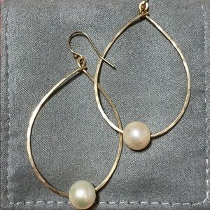 🌺 Gold Plated Freshwater Pearl Earrings